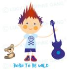 Nyálfogó kendő - Fiú gitárral