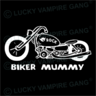 Kapucnis, bebújós unisex pulóver - Biker Mummy