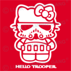 Pántos női top - Hello Trooper