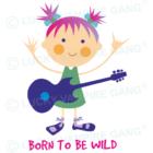 Rövid ujjú body - Lány gitárral