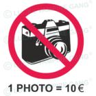 Rövid ujjú női póló - Ne fotózz!
