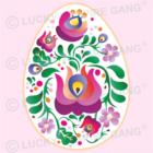 Pamut zsák - Kalocsai tojással