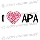 Rövid ujjú női póló - I love APA - Saját felirattal is!