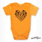 Rövid ujjú body - Koponya szív