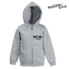 Kapucnis cipzáros gyerek pulóver - Metal Xmas