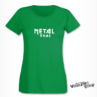 Rövid ujjú női póló - Metal Xmas