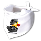 Nyálfogó kendő - Biker Duck
