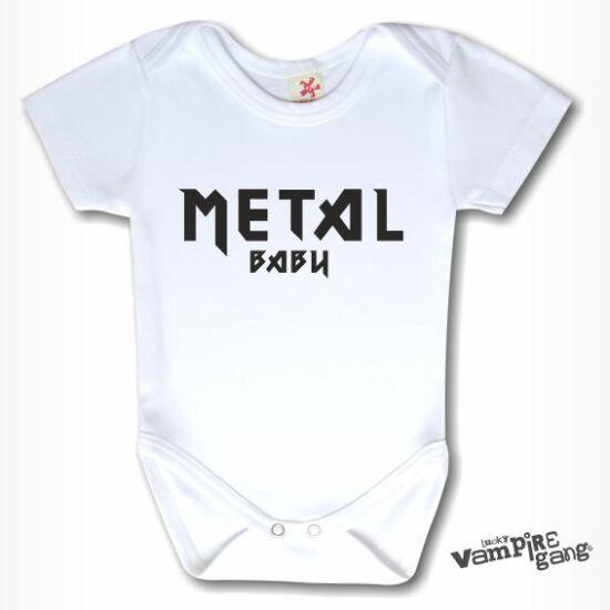 Rövid ujjú body - Metal baby