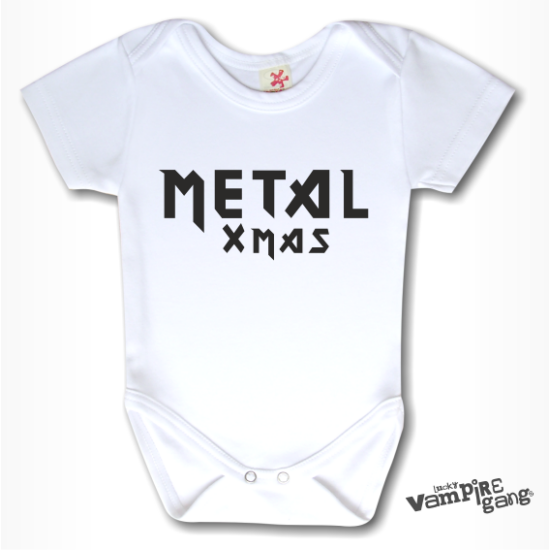Rövid ujjú body - Metal Xmas