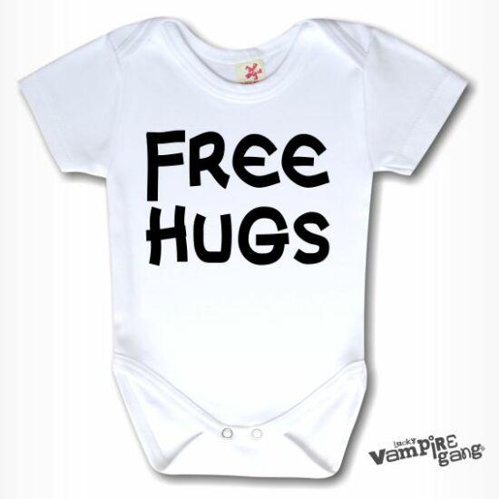 Rövid ujjú body - Free Hugs