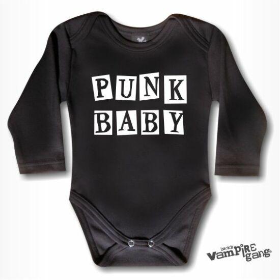 Hosszú ujjú body - Punk baby
