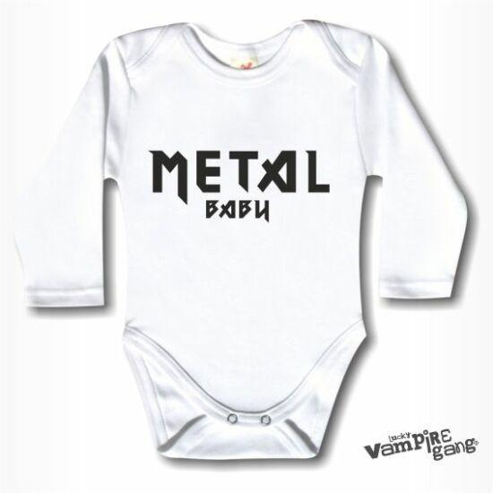 Hosszú ujjú body - Metal baby