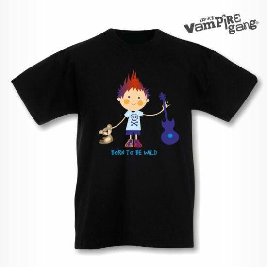 Rövid ujjú gyerek póló - Fiú gitárral