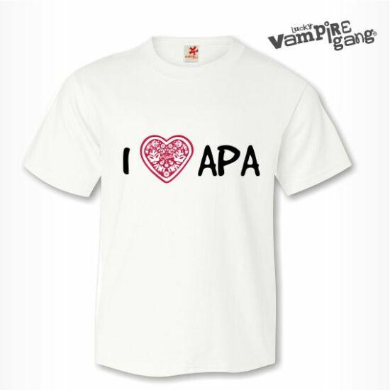 Rövid ujjú gyerek póló - I love APA - Saját felirattal is!