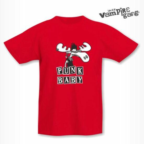 Rövid ujjú gyerek póló - Punk szarvas