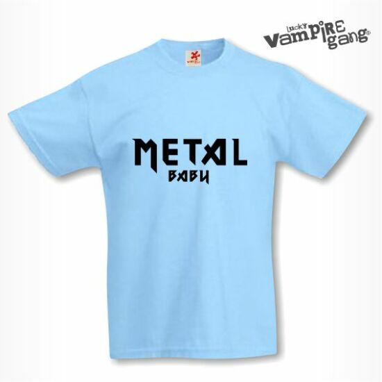 Rövid ujjú gyerek póló - Metal baby