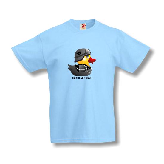 Rövid ujjú gyerek póló - Biker Duck