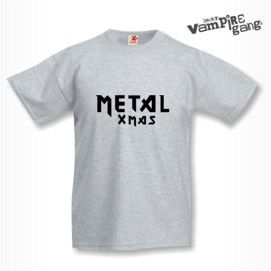 Rövid ujjú gyerek póló - Metal Xmas