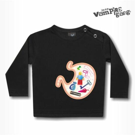 Hosszú ujjú gyerek póló - Jóllakott pocak