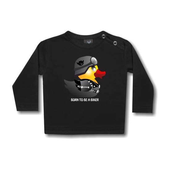 Hosszú ujjú gyerek póló - Biker Duck