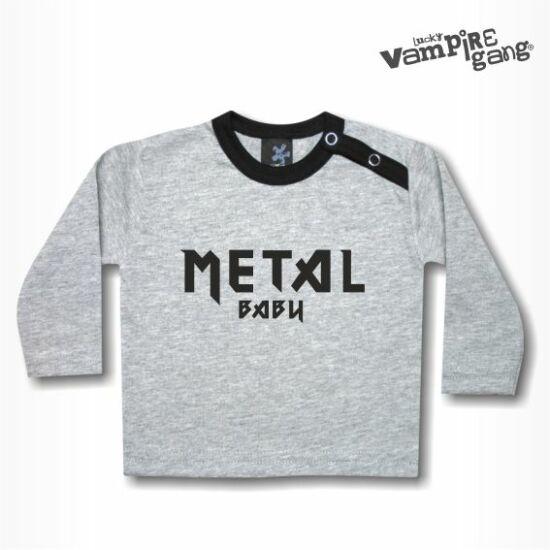Hosszú ujjú gyerek póló - Metal baby