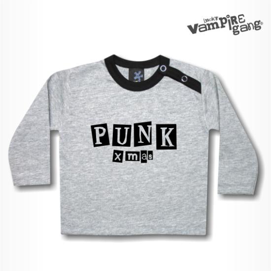 Hosszú ujjú gyerek póló - Punk Xmas