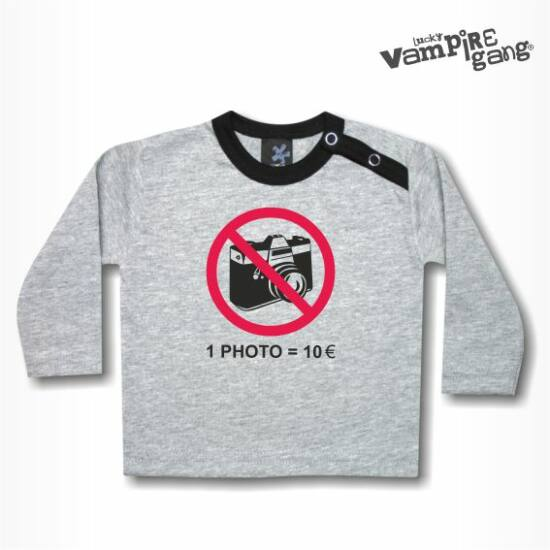 Hosszú ujjú gyerek póló - Ne fotózz!
