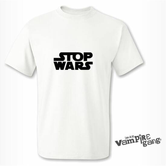 Rövid ujjú férfi póló - Stop!