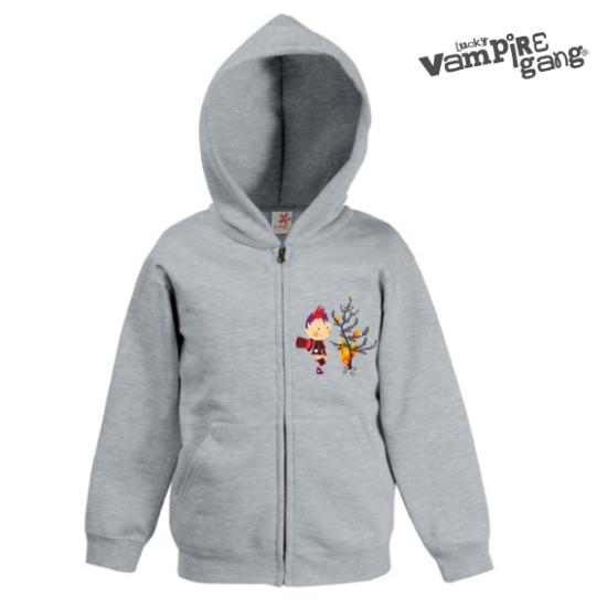 Kapucnis cipzáros gyerek pulóver - Tűzoltó
