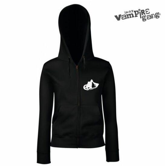 Kapucnis, cipzáros női pulóver - Easy Vader