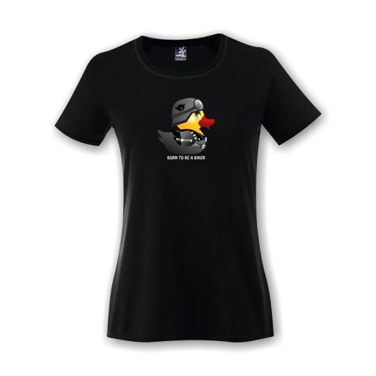 Rövid ujjú női póló - Biker Duck