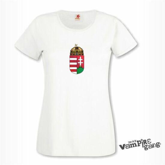 Rövid ujjú női póló - Magyar címer
