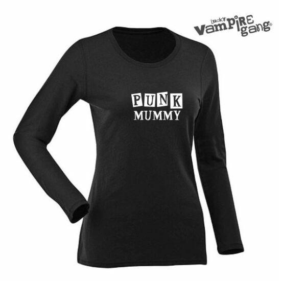 Hosszú ujjú női póló - Punk Mummy