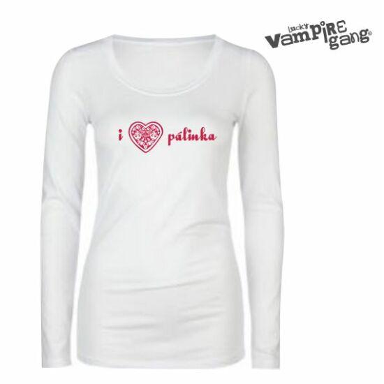 Hosszú ujjú női póló - I love Pálinka