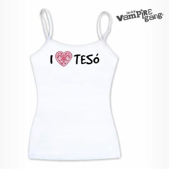 Pántos női top - I love TESÓ - Saját felirattal is!