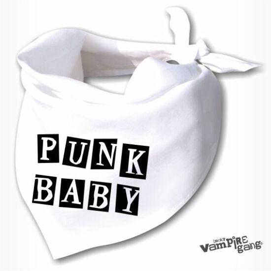 Nyálfogó kendő - Punk baby
