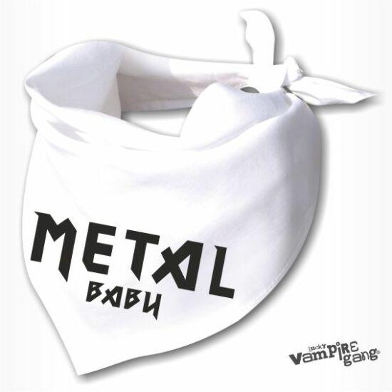 Nyálfogó kendő - Metal baby
