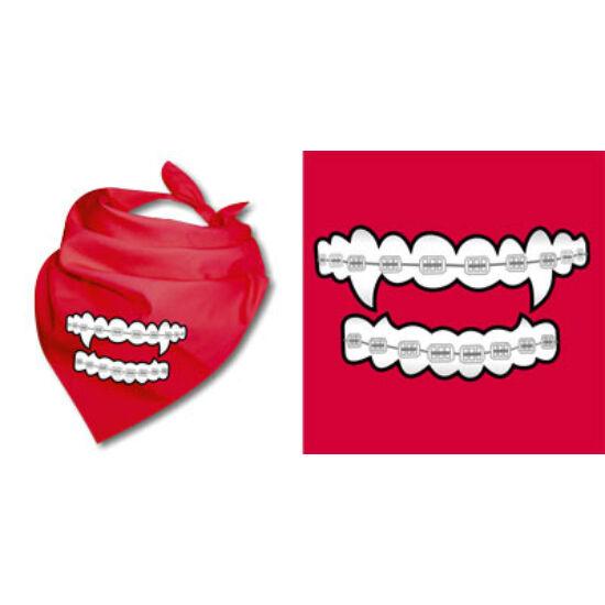 Nyálfogó kendő - Vámpír fogsor