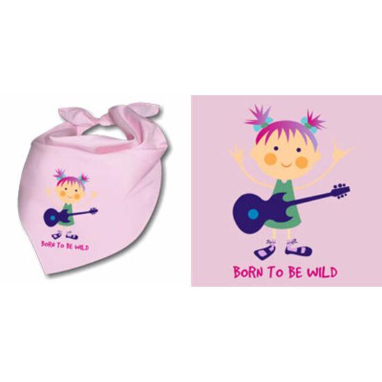 Nyálfogó kendő - Lány gitárral
