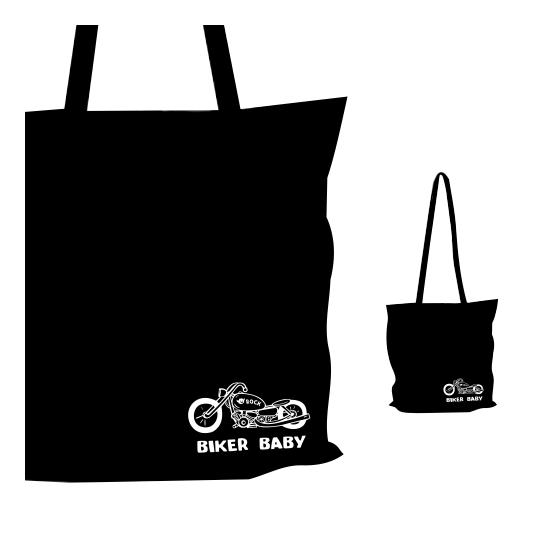 Vászon táska - Biker Baby