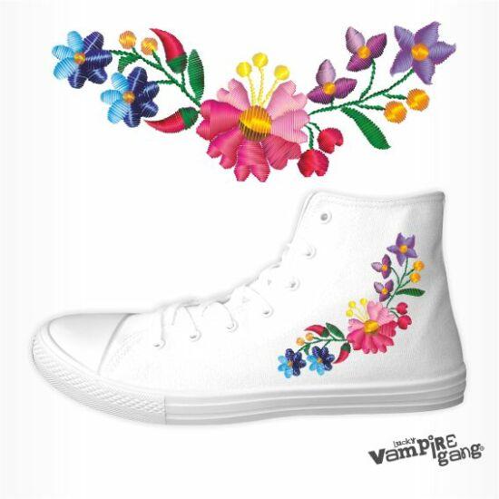 Női vászon tornacipő - Kalocsai minta
