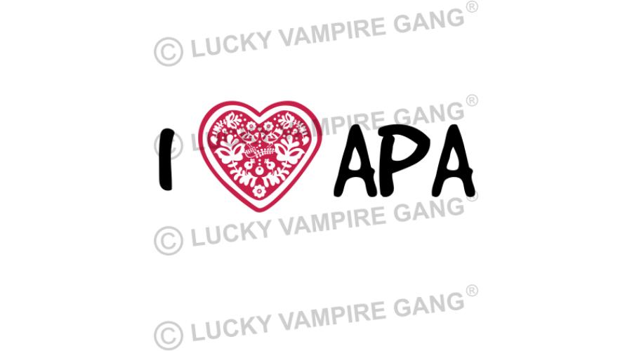 e55a01bcc1 Rövid ujjú body - I love APA - Saját felirattal is! - I love APA